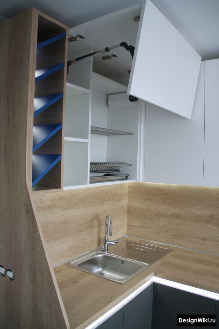 кухни в серых тонах дизайн