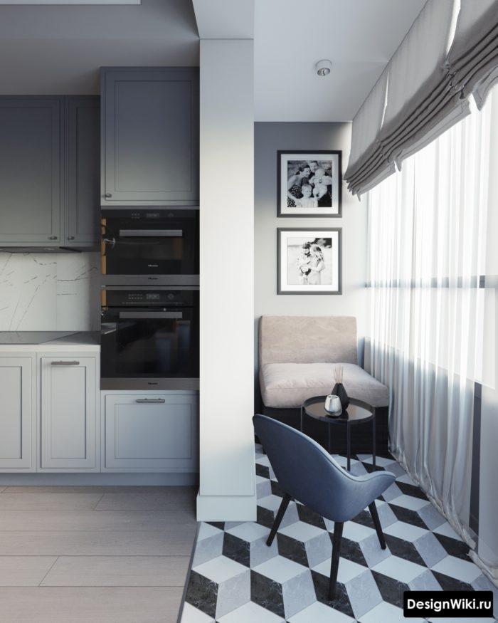 кухни серого цвета матовые в интерьере