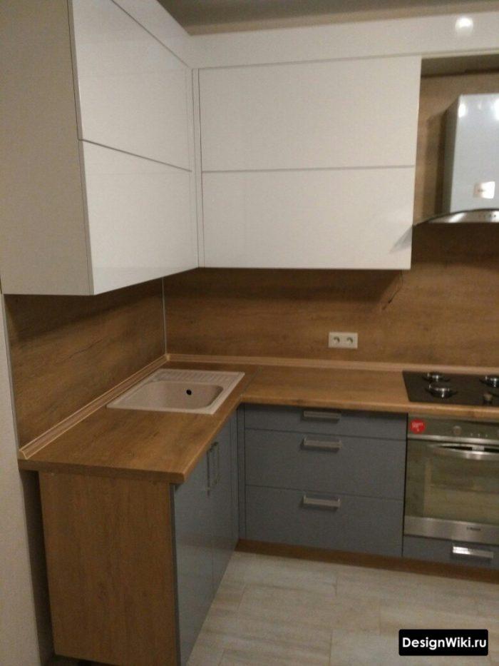 кухня в сером стиле