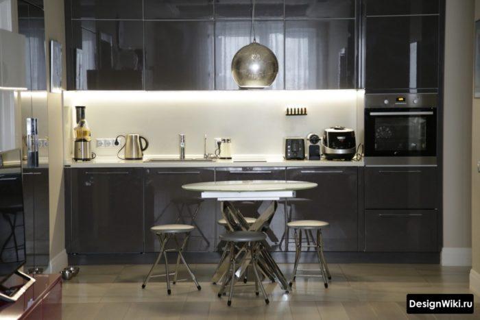 кухня в серых оттенках