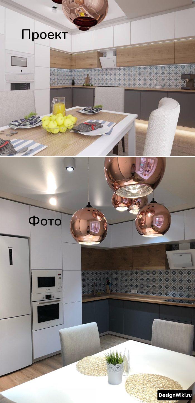 серая столешница в интерьере кухни