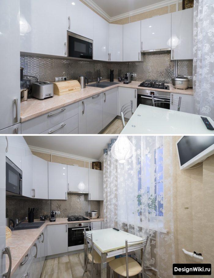 сочетание цветов с серым в интерьере кухни