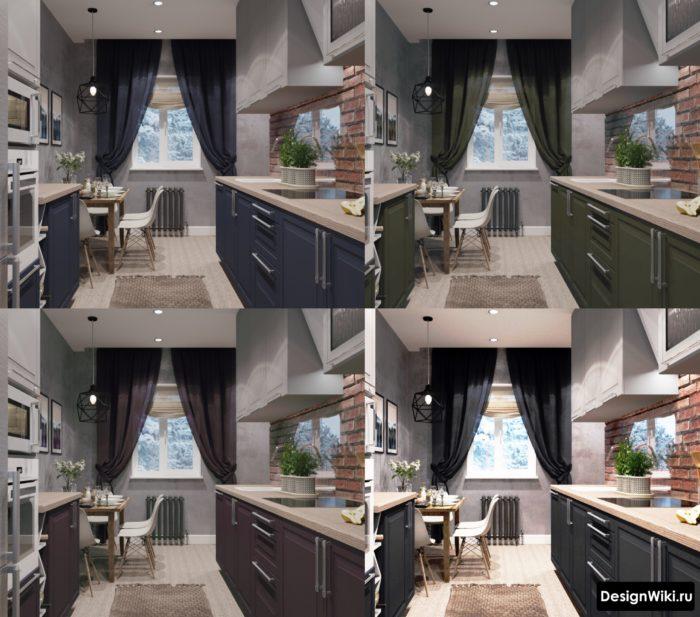 шторы для серой кухни в современном стиле